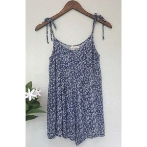 Urban Outfitters Blue Floral Romper